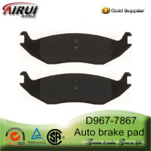 D967-7867 Wholesale auto brake pads for CHRYSLER Aspen,DODGE TRUCK and RAM 1500